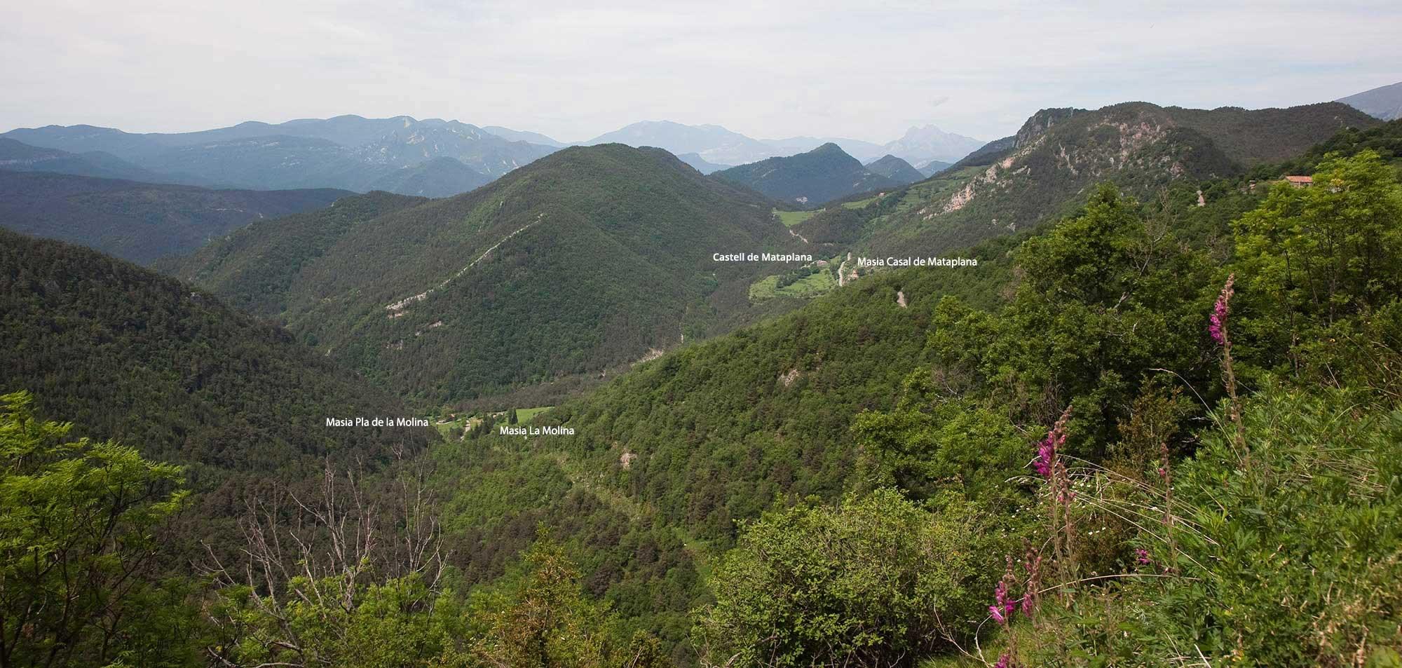 Panoramica de la vall de Mataplana